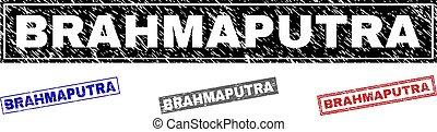 Grunge BRAHMAPUTRA Textured Rectangle Watermarks - Grunge...