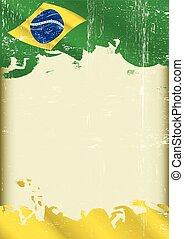 Grunge brazilian poster