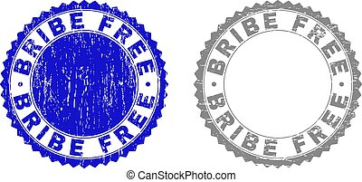 Grunge BRIBE FREE Textured Watermarks