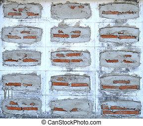 Grunge brick cement wall