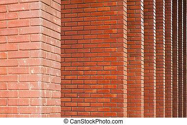 Grunge brick pillar.