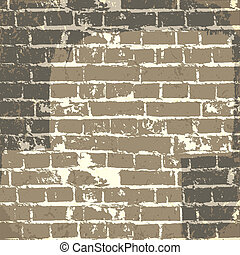 Grunge brick wall background for your message. Vector, EPS10