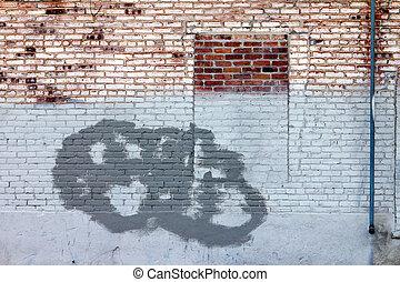 Grunge Brick Wall Window Old Texture Background