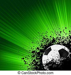 grunge, brista, fotboll, poster., eps, 8
