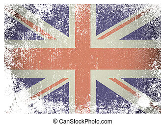 Grunge british flag - British flag with grunge aged effect...