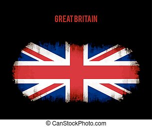 Grunge british flag