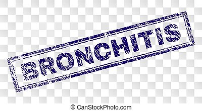 Grunge BRONCHITIS Rectangle Stamp