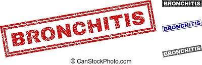 Grunge BRONCHITIS Scratched Rectangle Watermarks