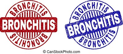 Grunge BRONCHITIS Textured Round Stamps