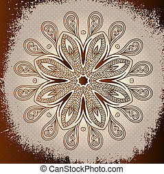 Grunge brown mandala background
