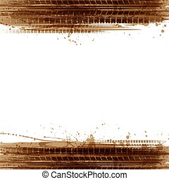 Grunge brown two tire background