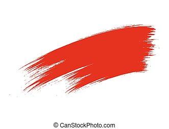 Grunge Red Brush Stroke Vector Banner Element Design