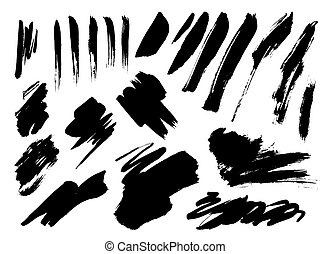 Grunge Brush Stroke set - Grunge Vector set Distressed...