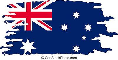 Grunge brush stroke with Australian national flag
