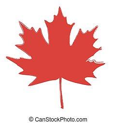Grunge Brushed Leaf