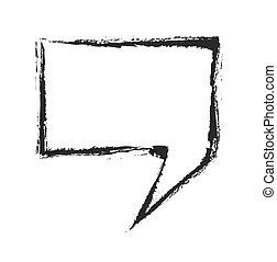 grunge bubble speech, vector