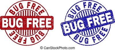 Grunge BUG FREE Scratched Round Watermarks