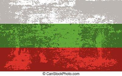 Grunge Bulgaria flag. Bulgaria flag with waving grunge texture. Vector background.