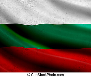 Grunge Bulgaria flag