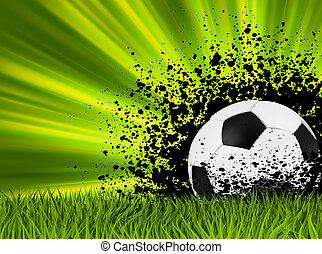Grunge burst football poster. EPS 8