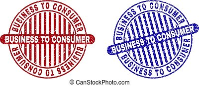 Grunge BUSINESS TO CONSUMER Textured Round Stamp Seals