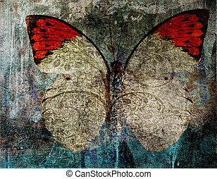 grunge butterfly background texture