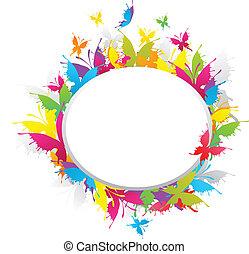 Grunge butterfly frame