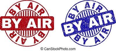 Grunge BY AIR Scratched Round Stamp Seals