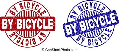 Grunge BY BICYCLE Scratched Round Watermarks