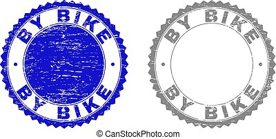 Grunge BY BIKE Textured Stamps