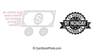 Grunge By Monday Ribbon Seal Stamp and Mesh Carcass Dollar Delivery Wagon
