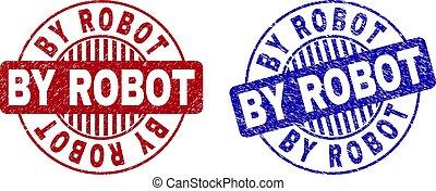 Grunge BY ROBOT Textured Round Watermarks