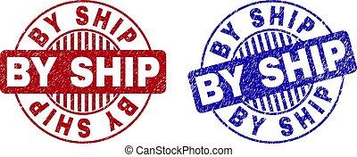 Grunge BY SHIP Textured Round Watermarks