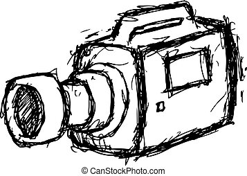grunge, cámara, vídeo
