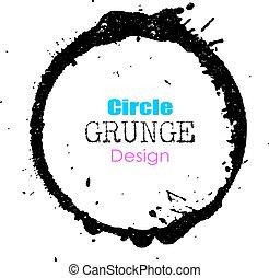 grunge, círculo, projete elemento
