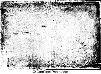 grunge, cadre, photographique