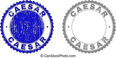 Grunge CAESAR Textured Stamp Seals - Grunge CAESAR stamp...