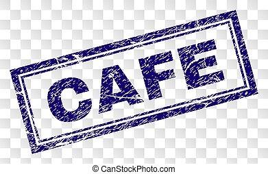 Grunge CAFE Rectangle Stamp