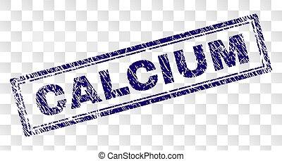 Grunge CALCIUM Rectangle Stamp