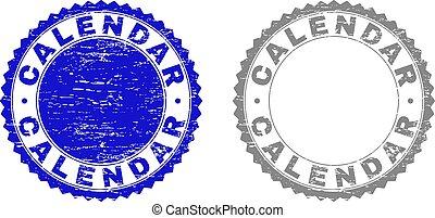 Grunge CALENDAR Scratched Watermarks - Grunge CALENDAR stamp...