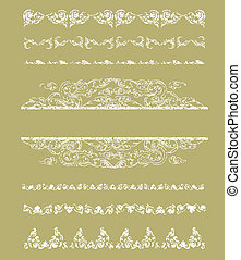 Grunge Cambodian floral pattern - Vector set of grunge...