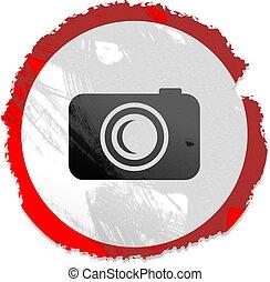 grunge camera sign