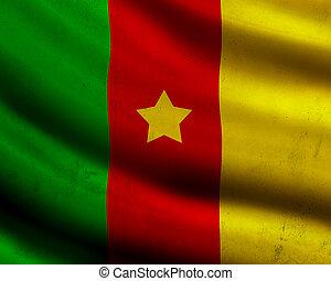 Grunge Cameroon flag