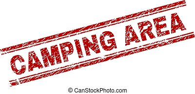grunge, campeggio, zona, francobollo, textured, sigillo