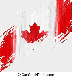Grunge Canada flag background