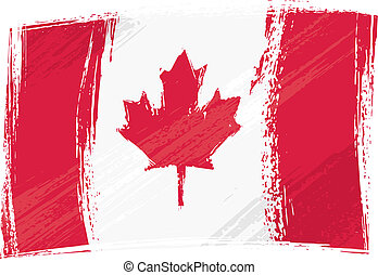 Canada national flag created in grunge style