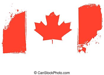 Grunge Canada flag - Grunge flag of Canada for your design