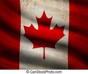 Grunge Canada flag