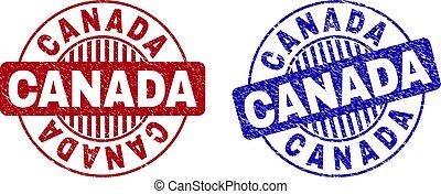 Grunge CANADA Textured Round Watermarks