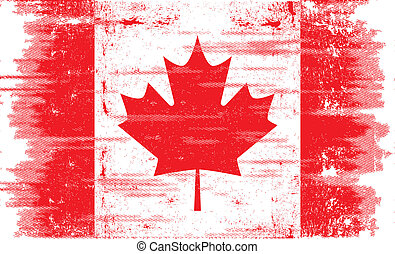 grunge canadian flag - A canadian flag with a texture.